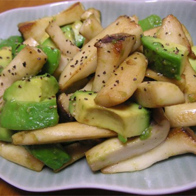 avocado-eryngii-salad