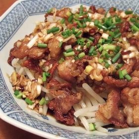 moyashi-buta-negi-sauce