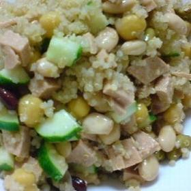 amaranthus-beans-salad