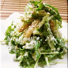 salad-mizuna-tofu