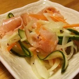 onion-ham-salad