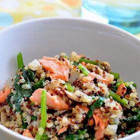 quinua-salmon-spinach