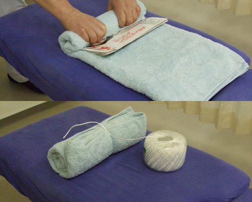 rolled-towel