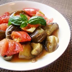 tomato-eggplant-salad