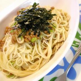 natto-spaghetti
