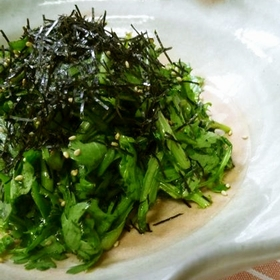 shungiku-nori-salad