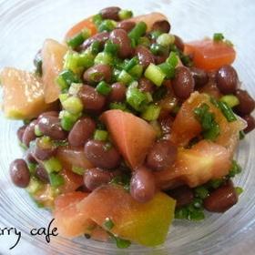 azuki-tomato-salad