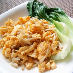enoki-egg-fried