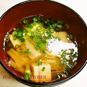 enoki-tofu-misoshiru