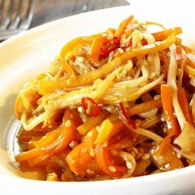 carrot-enoki-fried