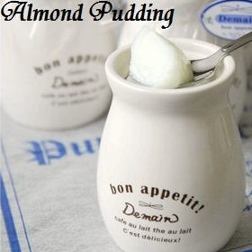 kanten-almond-pudding