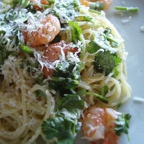 coriander-prawn-pasta